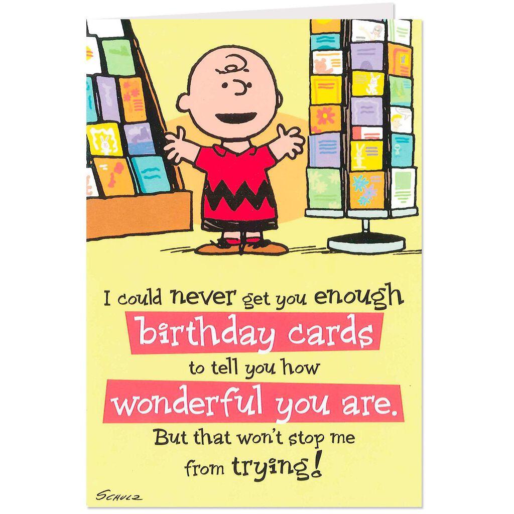 PeanutsR Charlie Brown How Wonderful You Are Birthday Card