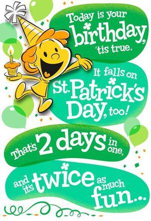 Happy O'Birthday St. Patrick's Day Card
