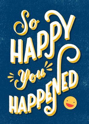 Smiley Face Blank Birthday Card