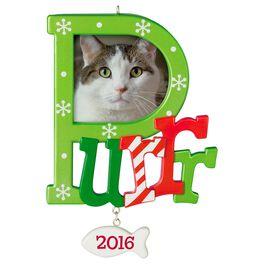Cat Purr Photo Holder Ornament, , large