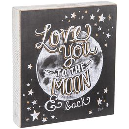 Primitives by Kathy Love You to the Moon & Back Box Sign, , large