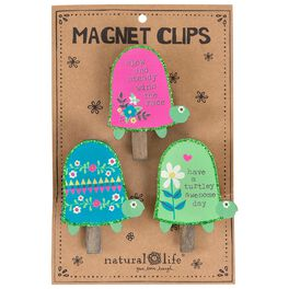 Natural Life Turtle Magnet Clips, Set of 3, , large