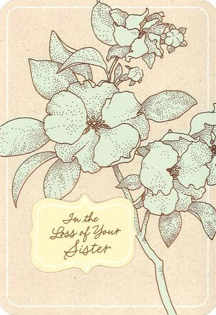 As You Remember Your Sister Sympathy Card