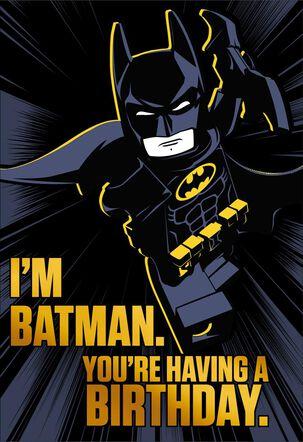 The LEGO® Batman™ Movie Awesome Birthday Card