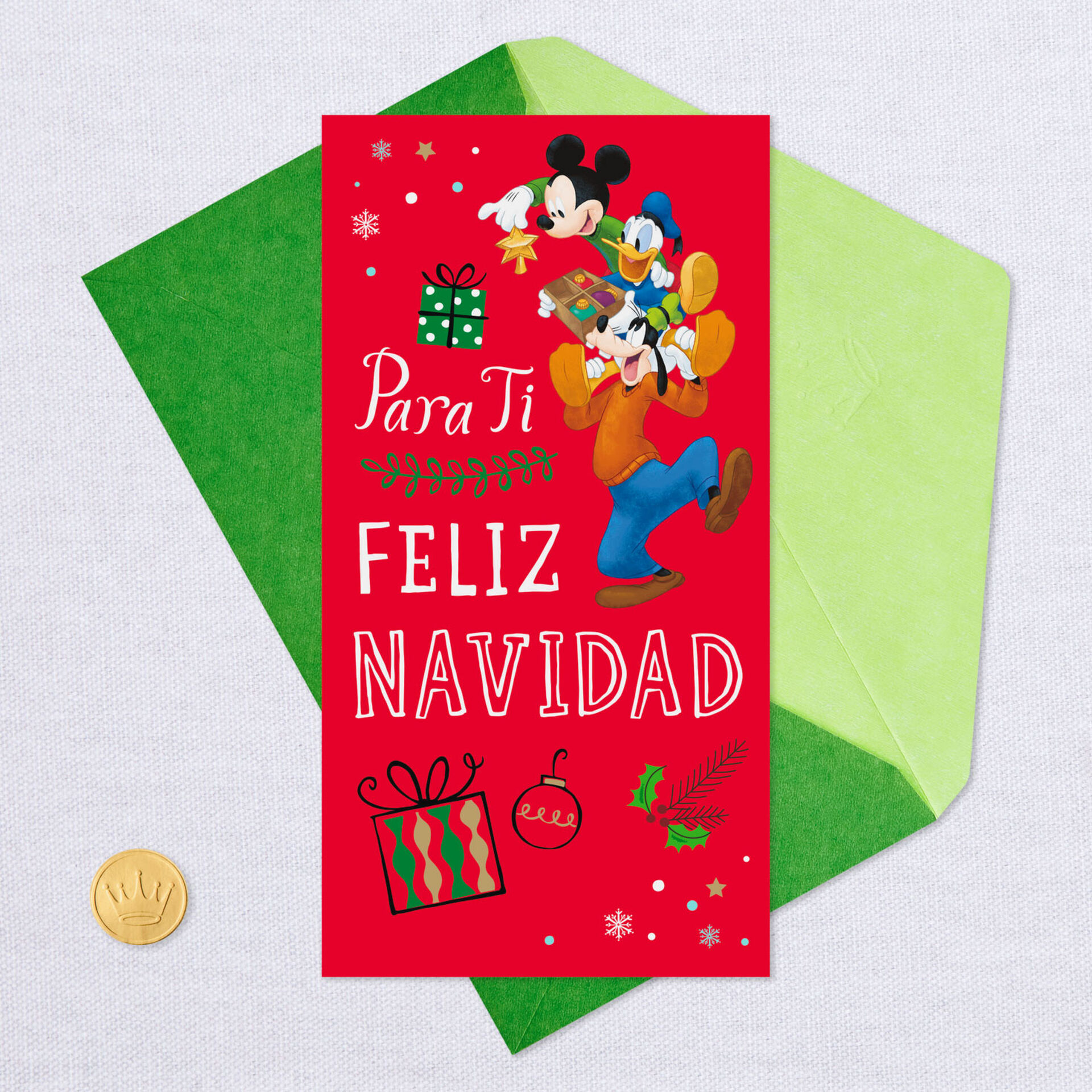 New Hallmark Disney Mickey Mouse Holiday Christmas Money Gift Greeting Cards