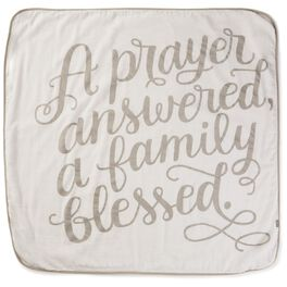 A Prayer Answered White Muslin Baby Blanket, , large