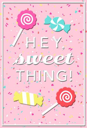 Hey Sweet Thing Valentine's Day Card