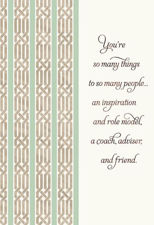 You're Many Things to Many People Boss's Day Card
