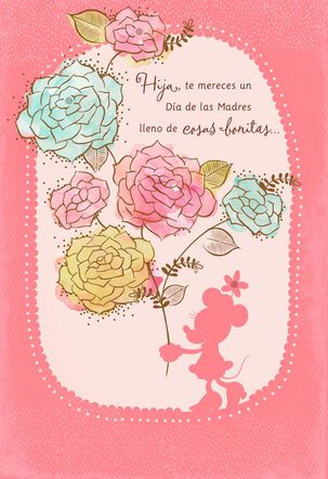 Beautiful Day Minnie Mouse Spanish-Language Mother's Day Card for Daughter