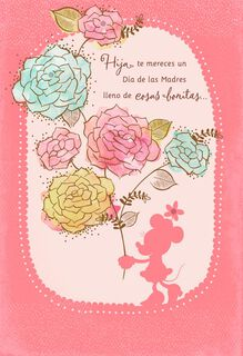 Beautiful Day Minnie Mouse Spanish-Language Mother's Day Card for Daughter,
