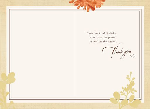 Botanical Thank You Card for Doctor,