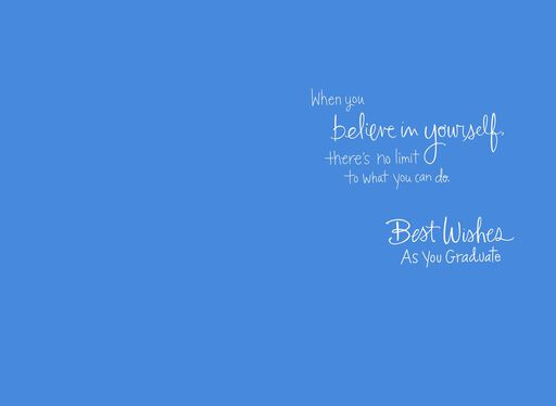 Believe in Yourself Graduation Card,