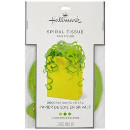 Green Spiral Tissue Bag Filler, , large
