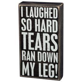 Primitives by Kathy Laughed Til Tears Box Sign, , large