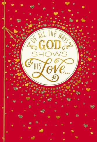 blessings of your love religious valentines day card