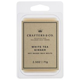 Crafters & Co. White Tea Ginger Wax Melt, 2.5-oz, , large