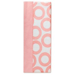 Solid Pink and Pink Circles Dual-Pack Tissue Paper, , large