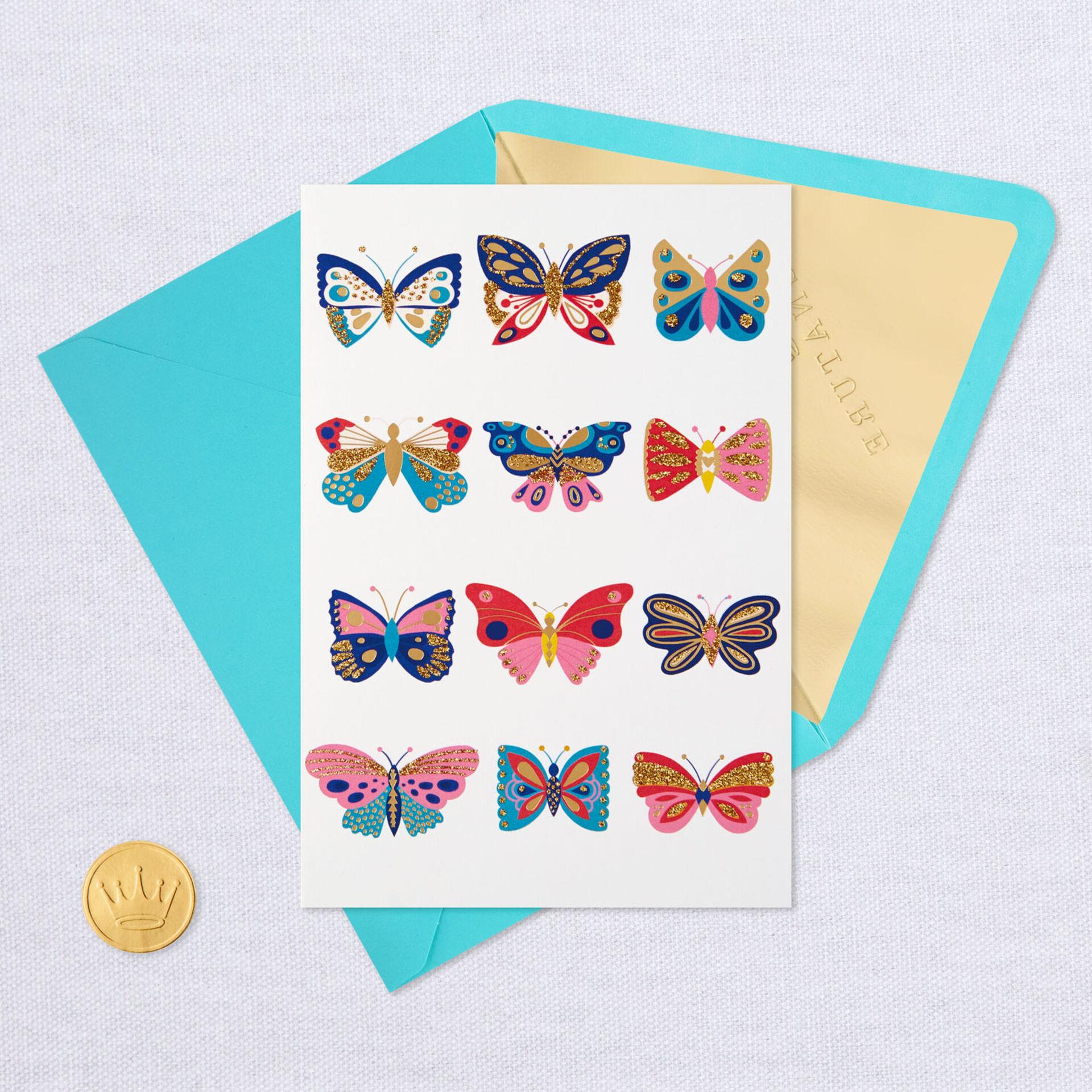 a dozen butterflies blank card  greeting cards  hallmark