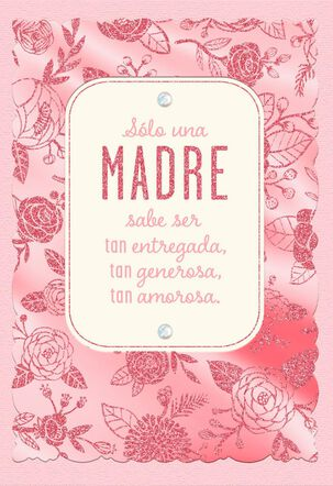 So Giving, So Loving Spanish-Language Mother's Day Card
