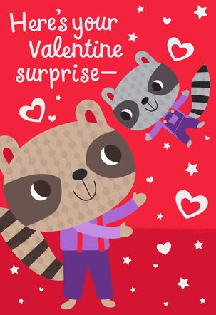 Surprise Hug Valentine's Day Card for Grandpa