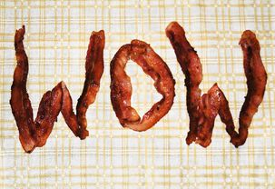 Bacon Wow Funny Congratulations Card for Him