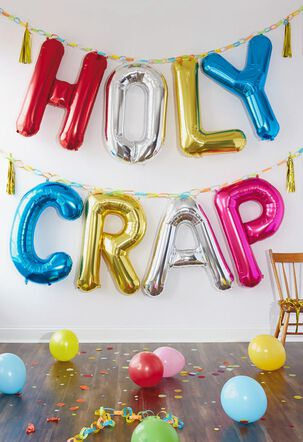 Holy Crap Balloons Funny Birthday Card
