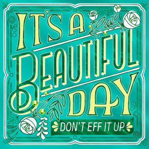 It's a Beautiful Day Funny Birthday Card