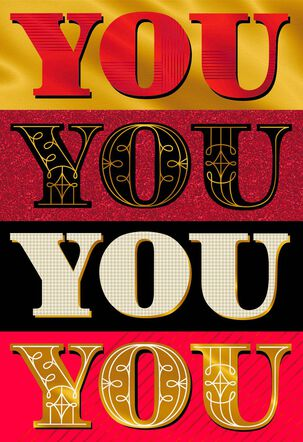 You You You Valentine's Day Card