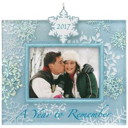 A Year to Remember 2017 Snowflake Picture Frame Ornament, , large