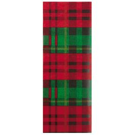 Red and Green Plaid Tissue Paper, 6 Sheets, , large