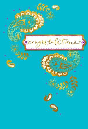 Love and Joy Wedding Card