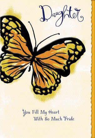 Butterfly Proud of You Mother's Day Card for Daughter