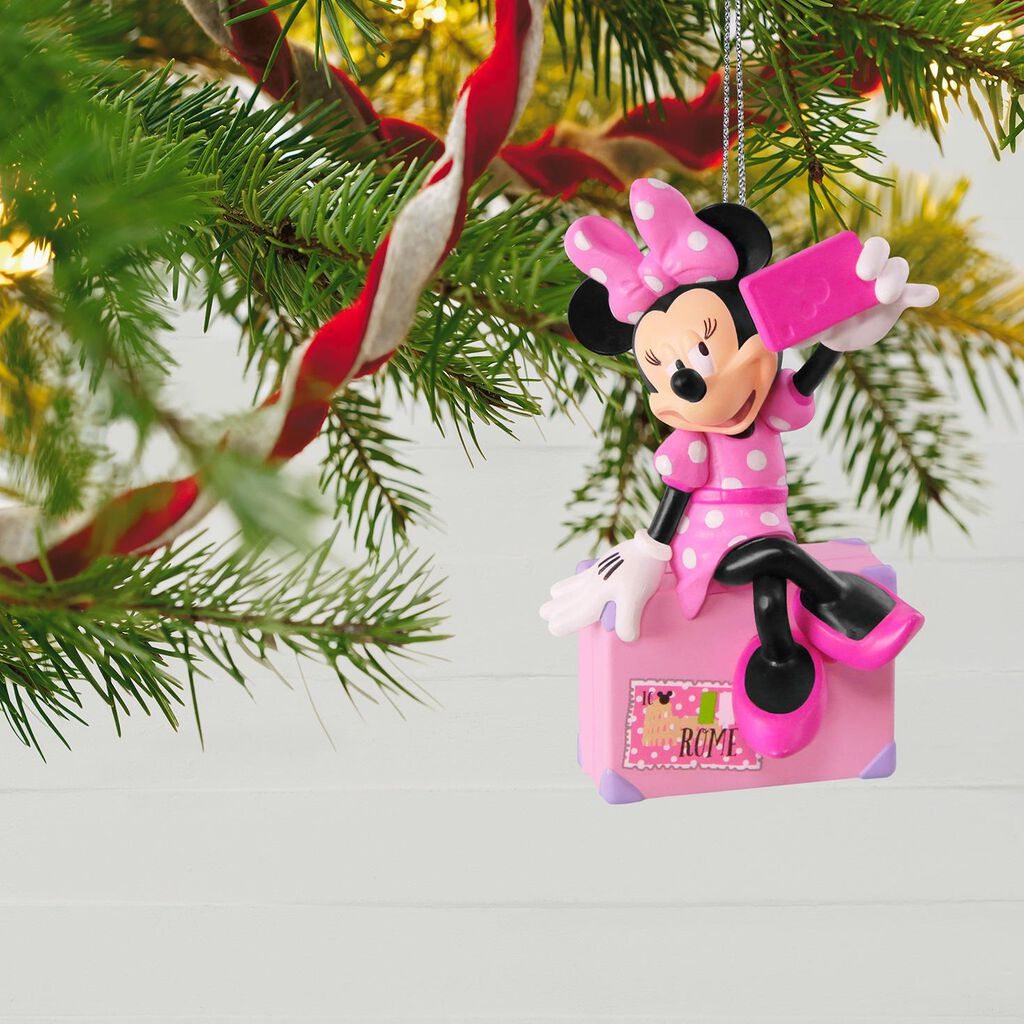 disney minnie mouse snappin a selfie ornament