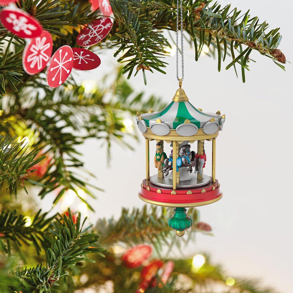 mini christmas carousel ornament