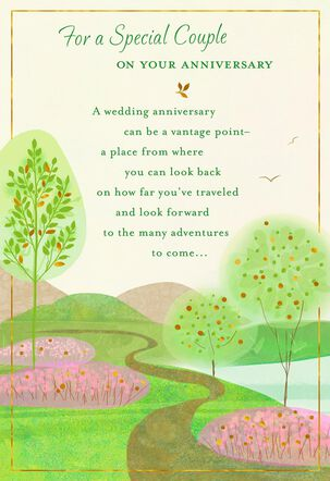 Pathway Through Trees Anniversary Card for Couple