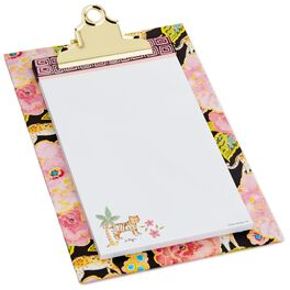 Haute Girls™ Paradise Floral Clipboard With Geometric Pattern, , large