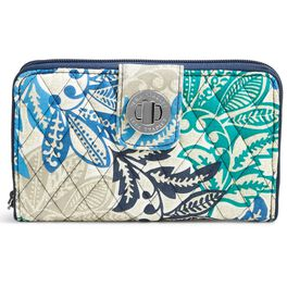 Vera Bradley RFID Turnlock Wallet in Santiago, , large