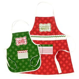 Adult and Child Christmas Apron Set, , large
