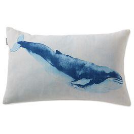 Cedar Cove Canvas Whale Pillow, , large