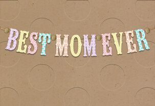 Best Mom Banner Mother's Day Card