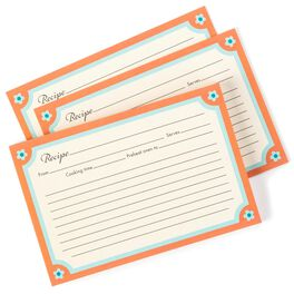 Neutral and Orange Recipe Refill Cards, , large