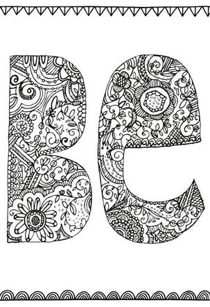 Be You Just Because Coloring Card