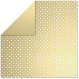 Gold/White Dots Reversible Wrapping Paper Roll, 15 sq. ft., , large