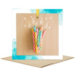 Birthday Candles Blank Card, , large