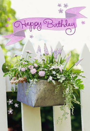 Metal Flowerbox Just-Perfect Moments Birthday Card