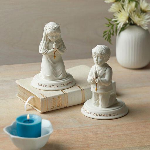 "... Boy First Holy Communion Porcelain Figurine, 5"","