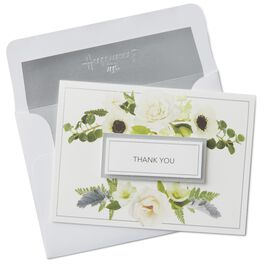 White Roses Thank You Notes, Box of 8, , large