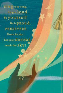 Reach the Sky Religious Graduation Card,