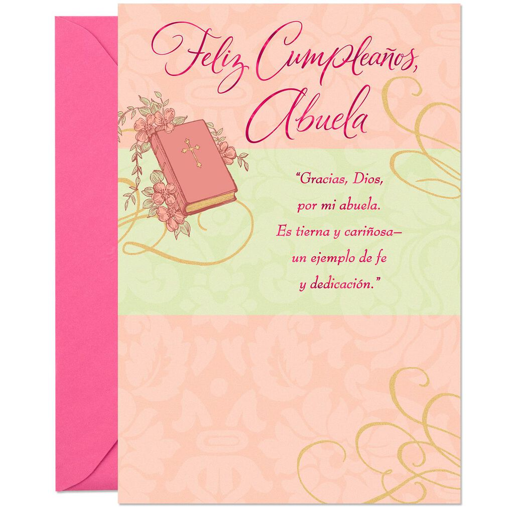 Your Beautiful Heart Spanish Language Birthday Card For Grandma