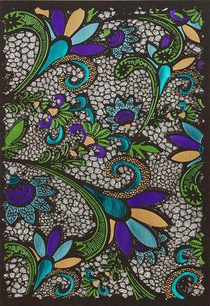 Floral Mosaic Blank Card